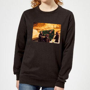 Star Wars Jawas Christmas Tree Women's Christmas Sweatshirt - Black