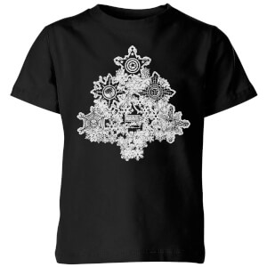 Marvel Shields Snowflakes Kids' Christmas T-Shirt - Black