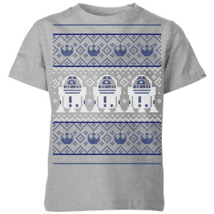 Star Wars R2-D2 Knit Kids' Christmas T-Shirt - Grey