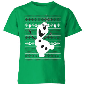 Disney Frozen Olaf Dancing Kids' Christmas T-Shirt - Kelly Green