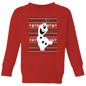 Frozen Olaf Dancing Kids' Christmas Sweatshirt - Red
