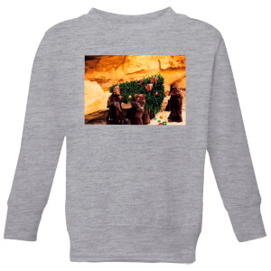 Star Wars Jawas Christmas Tree Kids' Christmas Sweatshirt - Grey