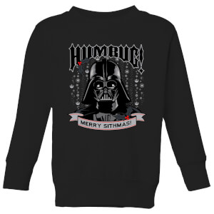Star Wars Darth Vader Humbug Kids' Christmas Sweater - Black