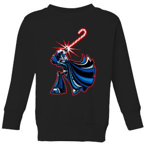 Star Wars Candy Cane Darth Vader Kids' Christmas Sweatshirt - Black