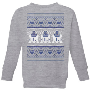 Star Wars R2-D2 Knit Kids' Christmas Sweatshirt - Grey