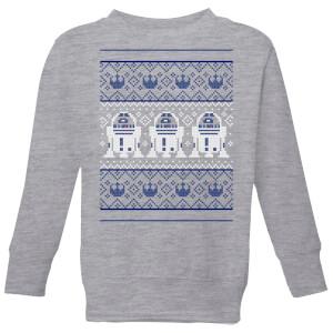 Star Wars R2-D2 Knit Kids' Christmas Sweater - Grey