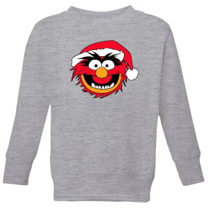 The Muppets Animal Kids' Christmas Sweatshirt - Grey