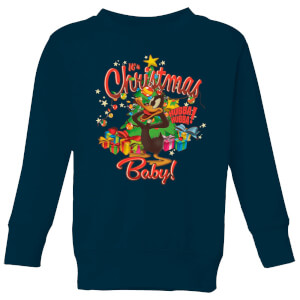 Looney Tunes Its Christmas Baby Kids' Christmas Sweatshirt - Navy