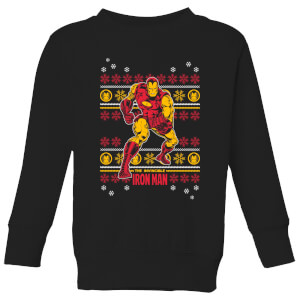 Marvel Iron Man Kids' Christmas Sweater - Black