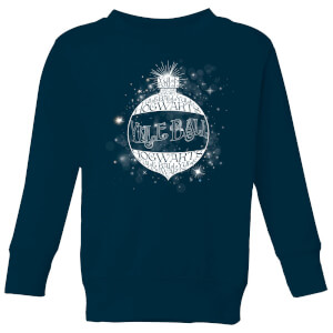 Harry Potter Yule Ball Baubel Kids' Christmas Sweatshirt - Navy