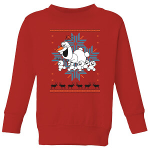 Frozen Olaf and Snowmen Kids' Christmas Sweatshirt - Red