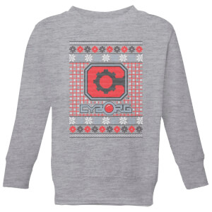 DC Cyborg Knit Kids' Christmas Sweatshirt - Grey
