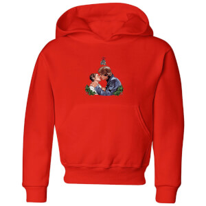 Star Wars Mistletoe Kiss Kids' Christmas Hoodie - Red