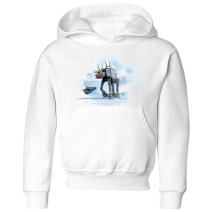 Star Wars AT-AT Reindeer Kids' Christmas Hoodie - White