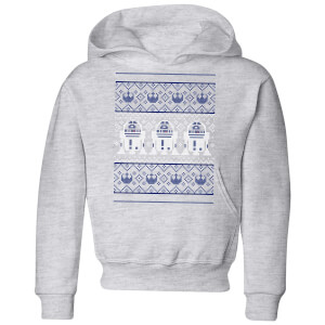 Star Wars R2-D2 Knit Kids' Christmas Hoodie - Grey