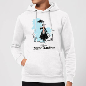 Mary Poppins Rooftop Landing Christmas Hoodie - Weiß