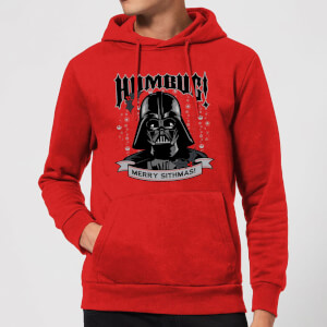 Star Wars Darth Vader Humbug Christmas Hoodie - Red