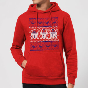 Star Wars R2-D2 Knit Christmas Hoodie - Red