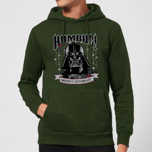 Star Wars Darth Vader Humbug Christmas Hoodie - Forest Green