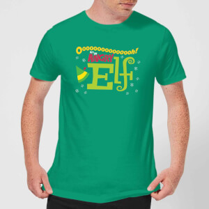 Elf Angry Elf Men's Christmas T-Shirt - Kelly Green
