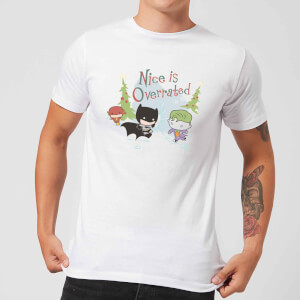 DC Nice Is Overrated Men's Christmas T-Shirt - White