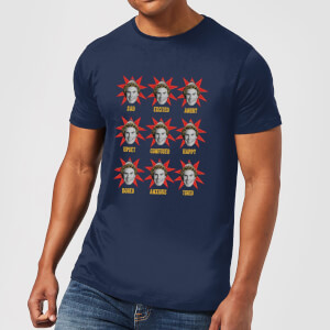 T-Shirt Elf Faces Christmas - Navy - Uomo