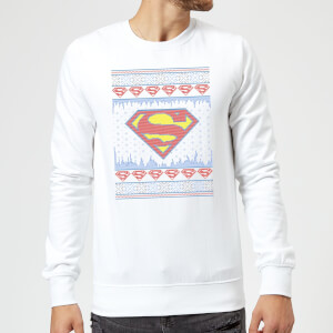 DC Supergirl Knit Christmas Sweatshirt - White