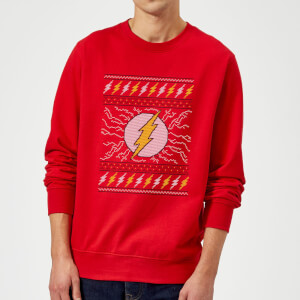 Felpa DC Flash Knit Christmas - Rosso