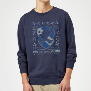 Harry Potter Ravenclaw Crest kersttrui - Navy