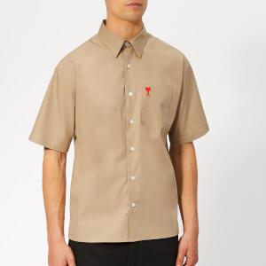 AMI Men's Chest Pocket Shirt - Camel