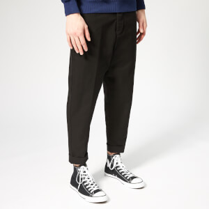 AMI Men's Oversized Carrot Fit Trousers - Black