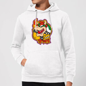 Nintendo Super Mario Bowser Kanji Hoodie - White