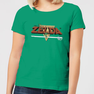 Nintendo The Legend Of Zelda Retro Logo Women's T-Shirt - Kelly Green
