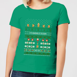Nintendo Legend Of Zelda Its Dangerous To Go Alone Women's Christmas T-Shirt - Kelly Green