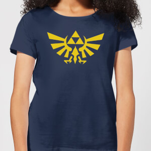 T-Shirt Nintendo Legend Of Zelda Hyrule - Blu Navy - Donna