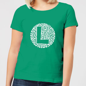 Nintendo Super Mario Luigi Items Logo Women's T-Shirt - Kelly Green