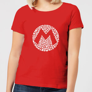 Nintendo Super Mario Mario Items Logo Women's T-Shirt - Red