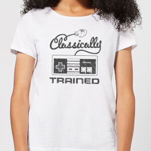 Nintendo Super Mario Retro Classically Trained Women's T-Shirt - White
