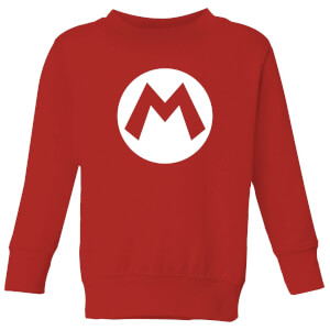 Nintendo Super Mario Logo Kid's Sweatshirt - Red