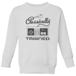 Nintendo Super Mario Retro Classically Trained Kid's Sweatshirt - White