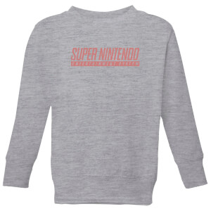 Super Nintendo SNES Men's Light Grey Kids' Sweatshirt - Grey