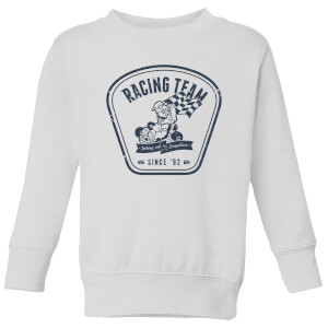 Nintendo Mario Kart Racing Team Kid's Sweatshirt - White