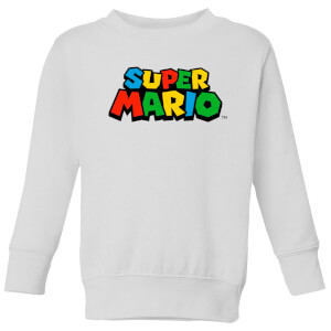 Nintendo Super Mario Colour Logo Kid's Sweatshirt - White