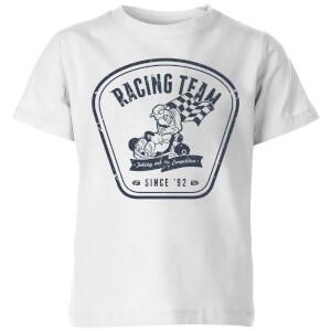 任天堂马里奥卡丁车赛车队儿童T恤-白色。