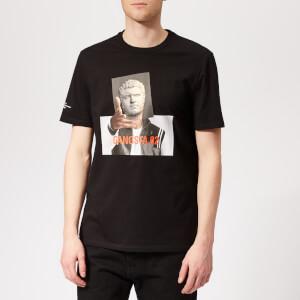 Neil Barrett Men's Gangsta 02 T-Shirt - Black/Print