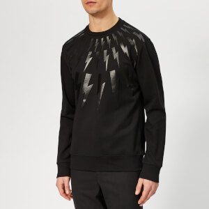 Neil Barrett Men's Bolt Fairisle Sweatshirt - Black