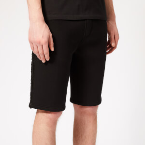 Neil Barrett Men's Double Nastro Sweat Shorts - Black/Black