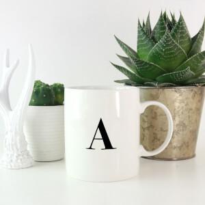 Bodoni Alphabet Mugs