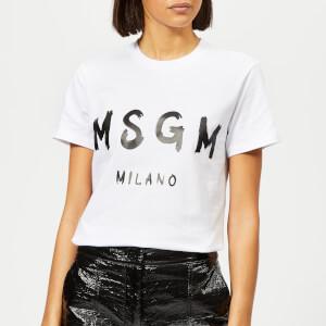 MSGM Women's Graffiti Logo T-Shirt - White
