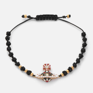 Vivienne Westwood Women's Gabriella Bas Relief Friendship Bracelet - Crystal/Gold
